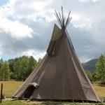 Tienda conica de los indios norteamericanos